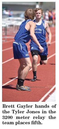 Brett Gayler and Tyler Jones 3200 meter relay