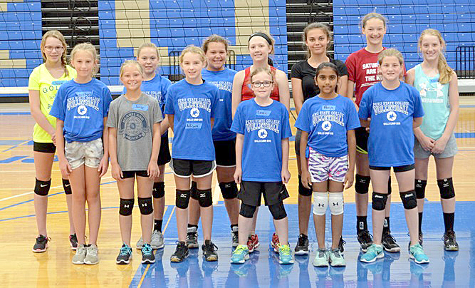 volleyball camp participants