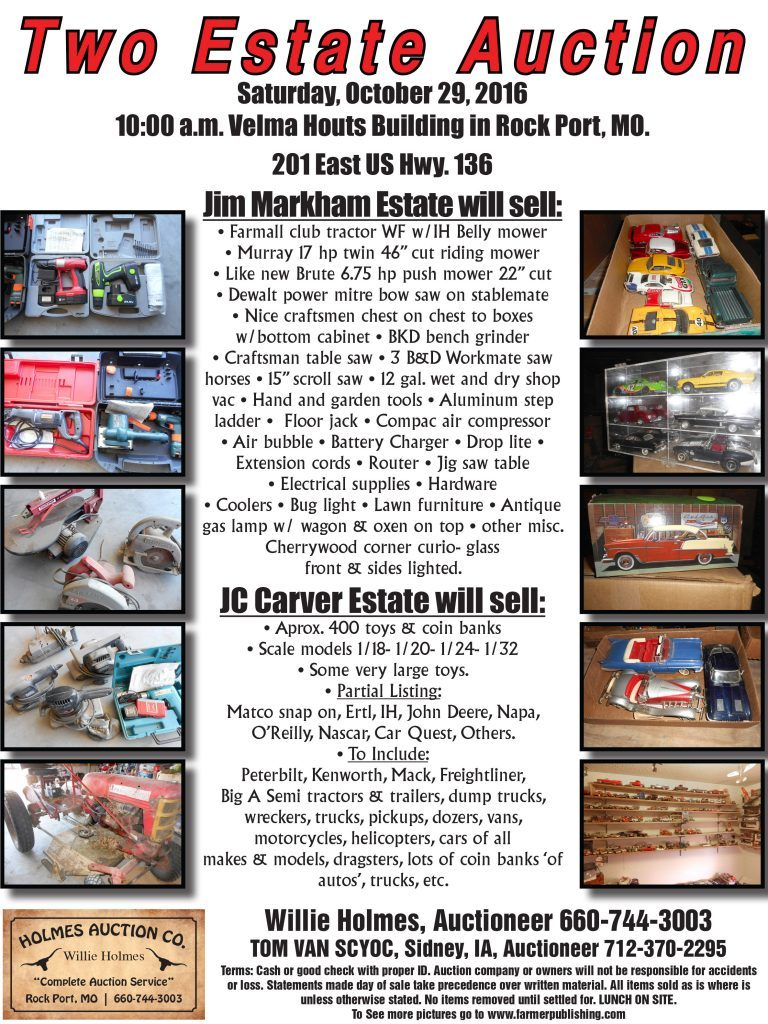 Jim Markham Estate Sale Ad