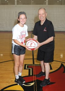Claire Martin and Coach Larry Holley