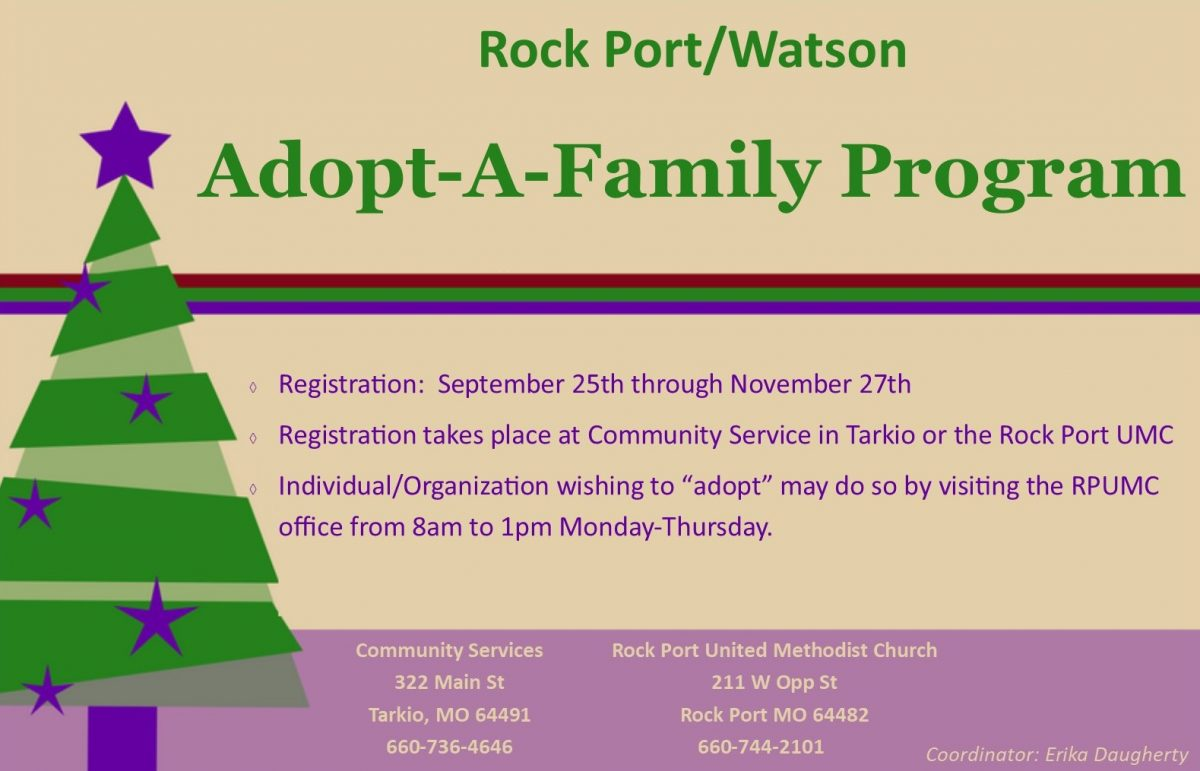 Adopt A Family For Christmas.Rock Port And Watson Christmas Adopt A Family