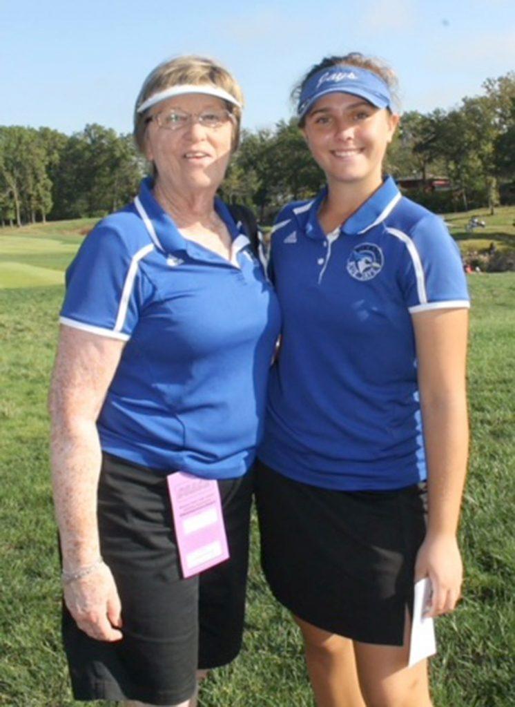 Coach Sue Owen, Gretchen Tharp