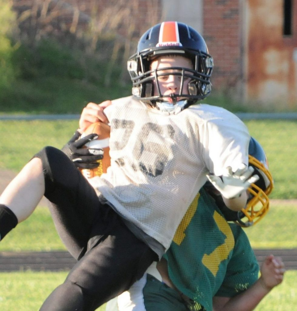 Connor getting tackled