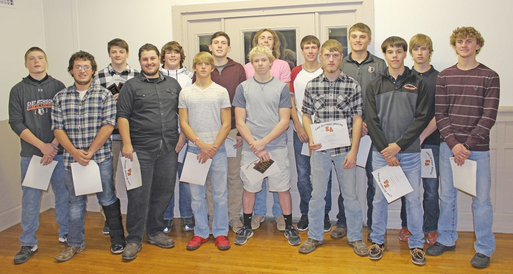 East Atchison football players