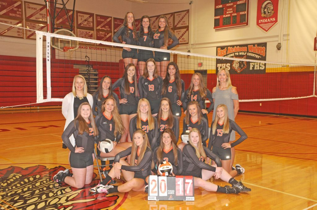 East Atchison volleyball team